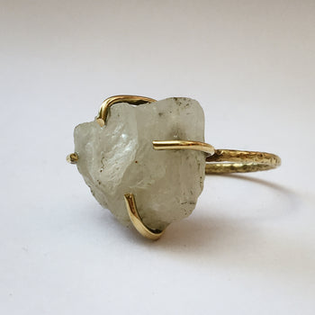 Raw Crystal Cage Ring
