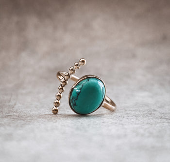 Turquoise Comet Ring