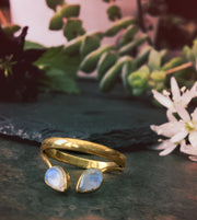 Moonstone Point Ring