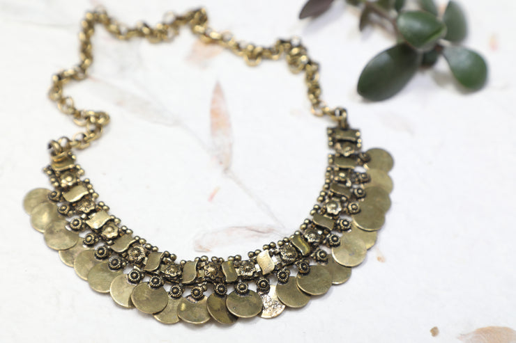 Chainmail Coin Necklace - Aralii