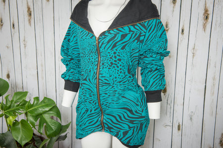 Zipper Hoody Blue Tiger