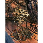Aztec Ley-Line Earrings Foragedesign Jewellery