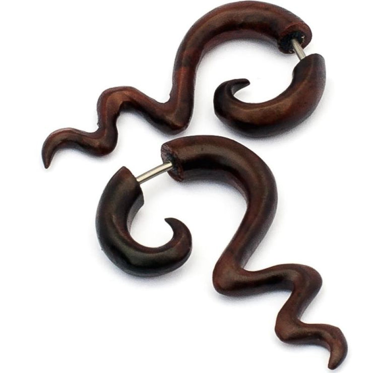 Balinese Wood Hook -  Small Foragedesign Jewellery