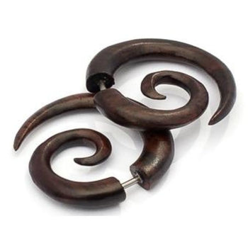 Balinese Wood Spiral - Small Foragedesign Jewellery