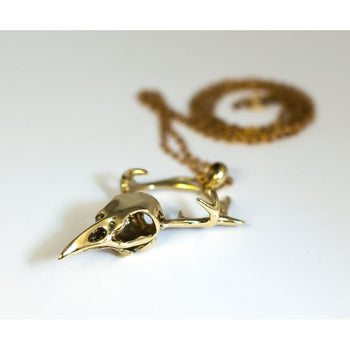 Bird Skull Antler Pendant Foragedesign Jewelry / Necklaces Pendants