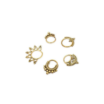 Brass Septum Rings Foragedesign Jewellery