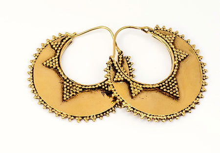 Brass Tribal Hoops : Fallen Star
