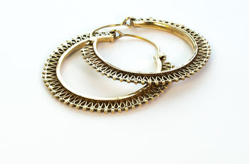 Brass Sunrise Hoops