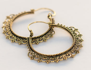 Ornate Hoops