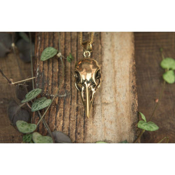 Crow Skull Pendant Foragedesign Jewelry / Necklaces Pendants
