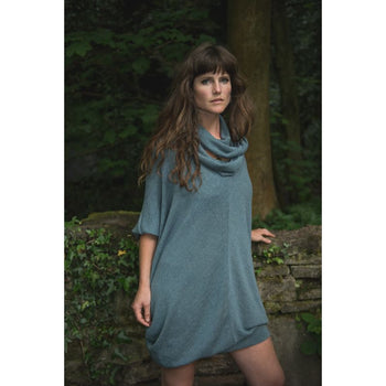 Dolman Jumper Dress With Scarf Forage Design Clothing