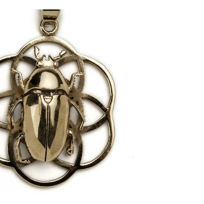 Flower Of Life Pendant With June Beetle Foragedesign Jewelry / Necklaces