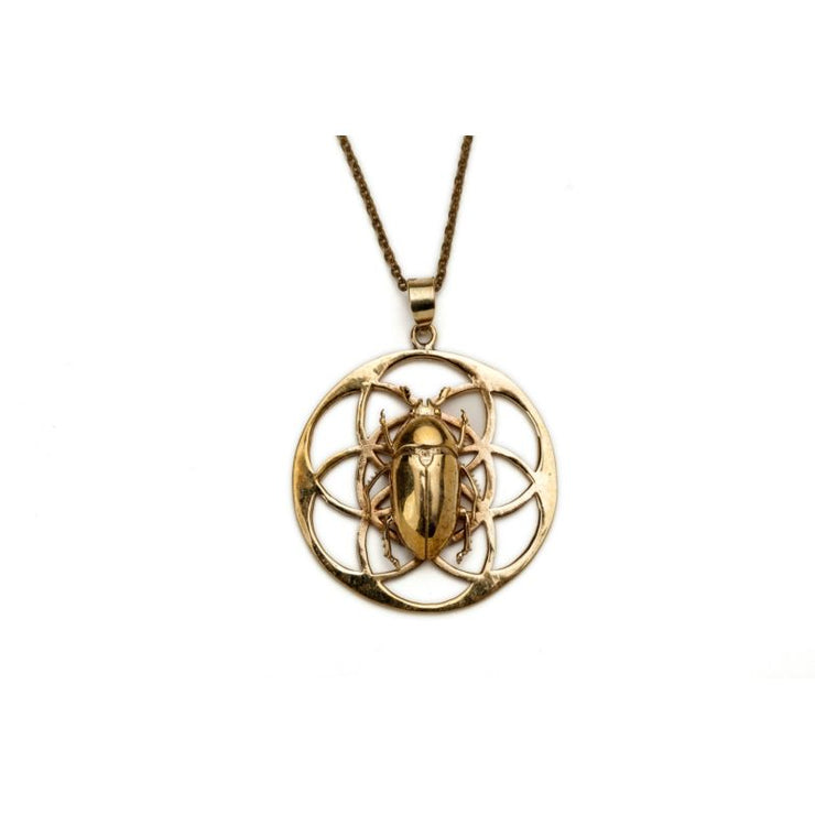 Flower of life pendant with june beetle foragedesign flower of life pendant with june beetle foragedesign jewelry necklaces pendants aloadofball Choice Image