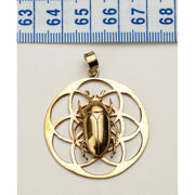 Flower Of Life Pendant With June Beetle Foragedesign Jewelry / Necklaces Pendants