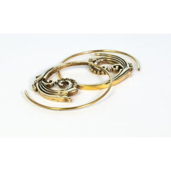 Flower Vine Spiral Earrings Foragedesign Jewelry /