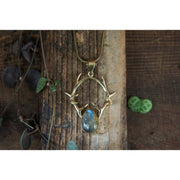 Horned Labradorite Pendant Foragedesign Jewelry / Necklaces Pendants
