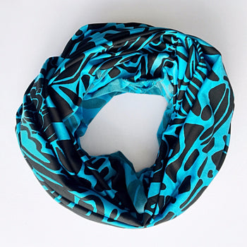 Hoop Scarf: Aqua Ultra- Stretch