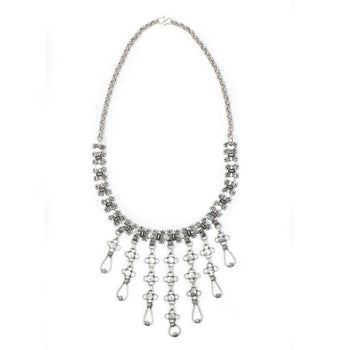 Chainmail Silver Tone Necklace - Darsini