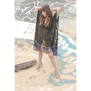 Kaftan - Black Rose Foragedesign Clothing / Women's Ponchos