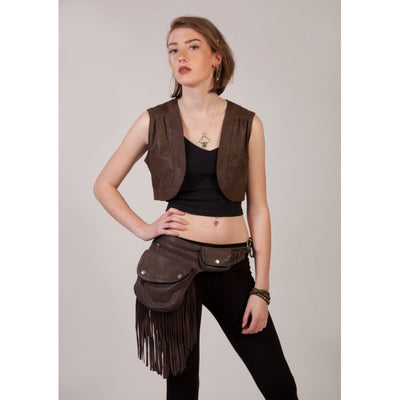 Leather Waistcoat Foragedesign Clothing / Women's Tops & Tees Vests