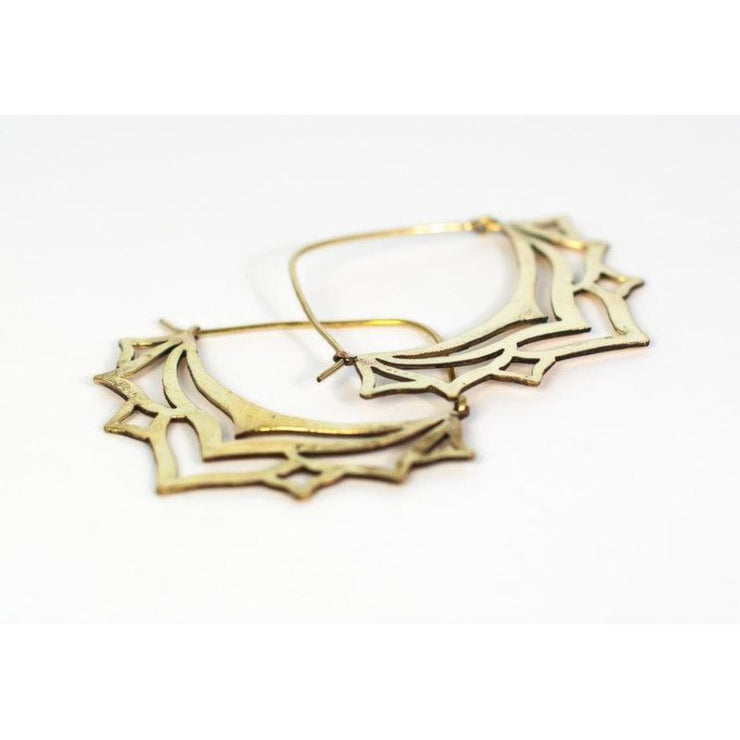Lotus Flower Hoops Foragedesign Jewelry / Earrings Hoop