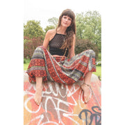 Sari Silk Harem Pants Foragedesign Clothing / Unisex Adult