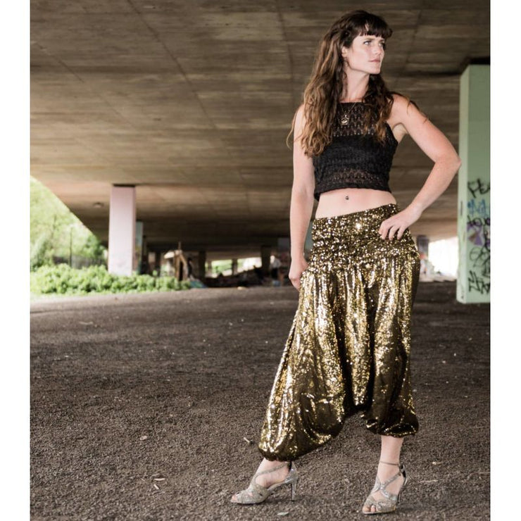 Sequin Harem Pants Foragedesign Clothing / Unisex Adult
