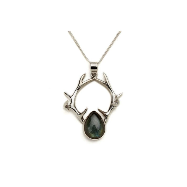 Pendants necklaces foragedesign silver antler pendant with labradorite foragedesign jewelry necklaces pendants aloadofball Image collections