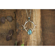 Silver Antler Pendant With Labradorite Foragedesign Jewelry / Necklaces Pendants