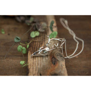 Silver Crowhorn Pendant Foragedesign Jewelry / Necklaces Pendants