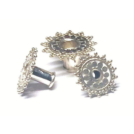 Silver Ear Tunnel Starburst - Seven Sizes Foragedesign Jewelry / Earrings Gauge & Plug