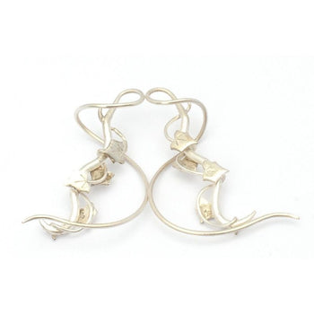 Silver Entwining Ivy Thread-Through Earrings Foragedesign Jewelry /