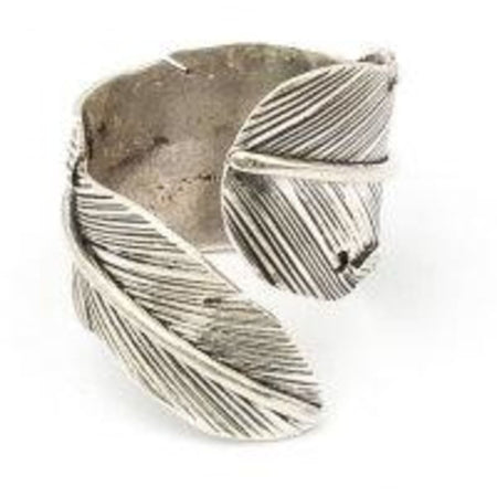 Silver Feather Wrap Ring Foragedesign Jewelry / Rings