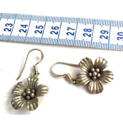 Silver Hill Tribe Flower Earrings Foragedesign Jewelry /