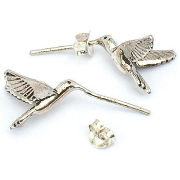 Silver Humming Bird Studs Foragedesign Jewelry / Earrings