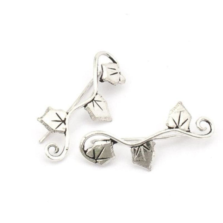Silver Ivy Climbing Studs Foragedesign Jewelry / Earrings