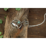 Silver June Beetle Hoop Pendant Foragedesign Jewelry / Necklaces Pendants