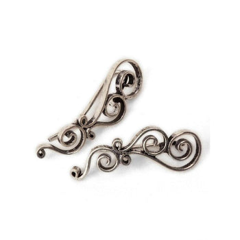 Silver Spiral Climbing Studs Foragedesign Jewelry / Earrings