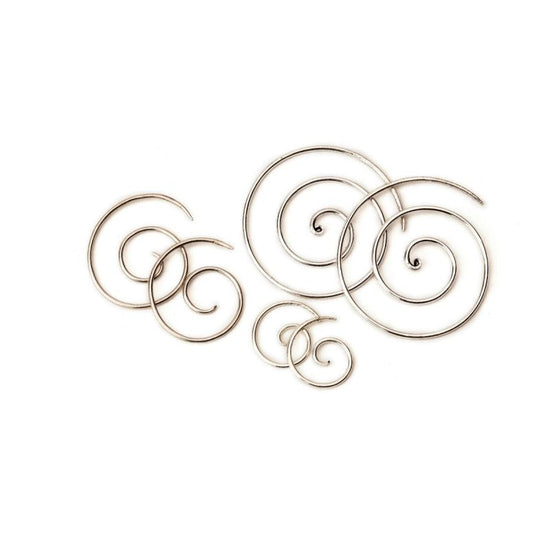 Silver Spirals - Three Sizes Foragedesign Jewelry / Earrings Hoop