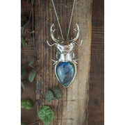 Silver Stag Beetle Pendant Foragedesign Jewelry / Necklaces Pendants