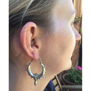 Silver Tribal Spike Earrings Foragedesign Jewelry / Hoop