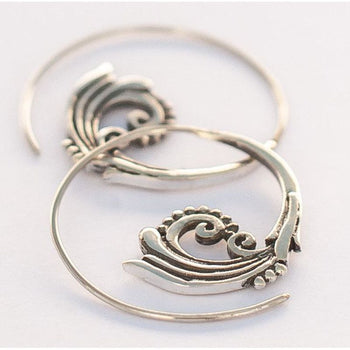 Silver Vine Spirals Foragedesign Jewelry / Earrings