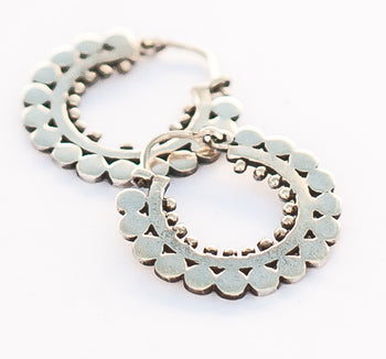 Silver Alchemy Hoops