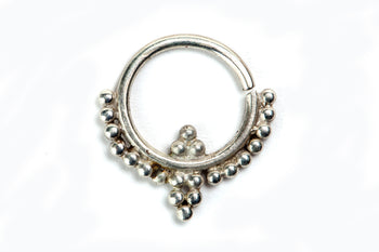 Silver Septum Ring - Snowdrop