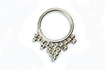Silver Septum Ring - Dewdrop