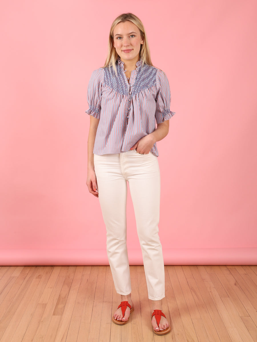 Milvia Top in Loretta Stripe