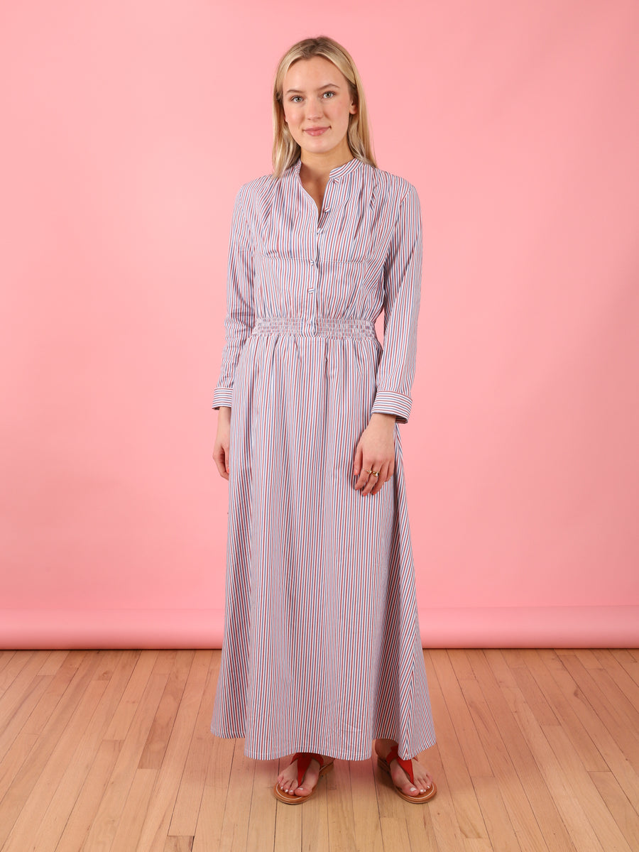 Aurora Dress in Loretta Stripe