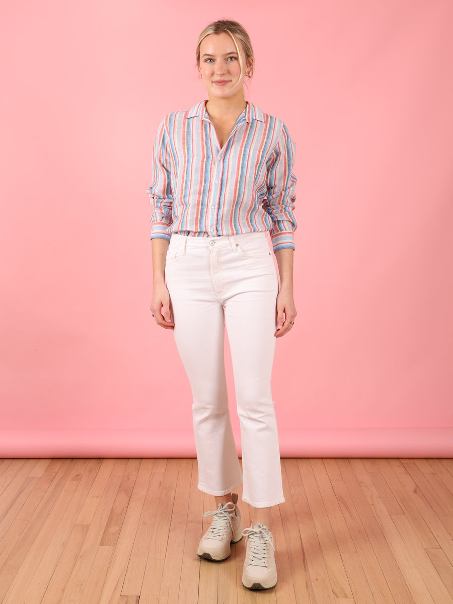 Multi Stripe Linen Barry Shirt