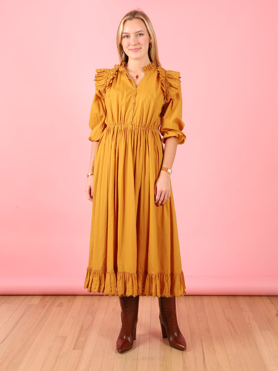Thyra Dress in Curry