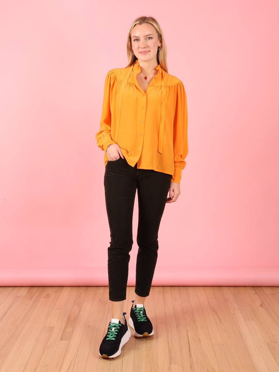 Mailin Bow Blouse in Pumpkin
